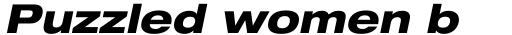 Helvetica Neue Pro Extd Heavy Oblique sample