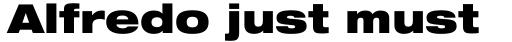 Helvetica Neue Pro Extd Black sample
