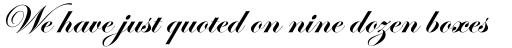 Edwardian Script Bold sample