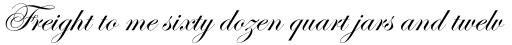 Edwardian Script sample