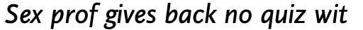 PF Diplomat Sans Medium Italic sample