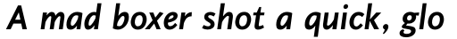 PF Diplomat Sans Bold Italic sample