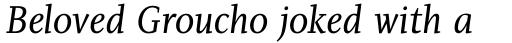 PF Diplomat Serif Italic sample