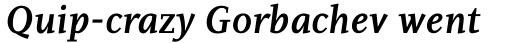 PF Diplomat Serif Bold Italic sample