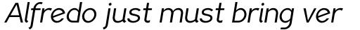 PF Lindemann Sans Book Italic sample