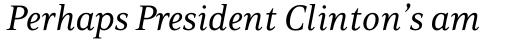 PF Press Italic sample
