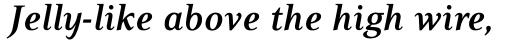 PF Press Bold Italic sample