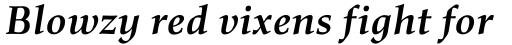 Richler Bold Italic sample