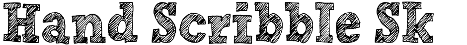 Click to view Hand Scribble Sketch Rock font, character set and sample text