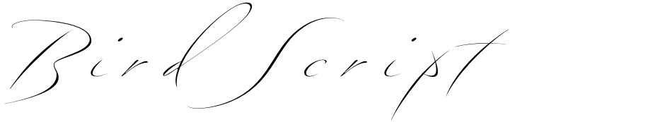 Click to view Bird Script font, character set and sample text