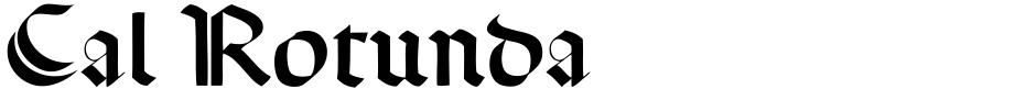 Click to view Cal Rotunda font, character set and sample text