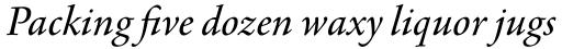 Agmena Pro Italic sample