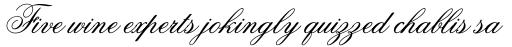 Flemish Script sample