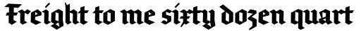 FF Brokenscript OT Condensed Bold sample