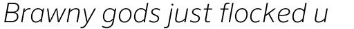FF Sero OT ExtraLight Italic sample