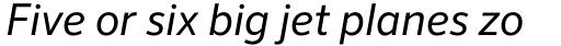 FF Sero OT Italic sample