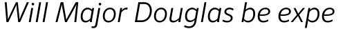FF Sero OT Light Italic sample