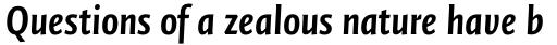 FF Quadraat Sans Pro Condensed Bold Italic sample