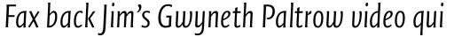 FF Quadraat Sans Pro Condensed Light Italic sample