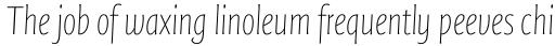 FF Quadraat Sans Pro Condensed Thin Italic sample
