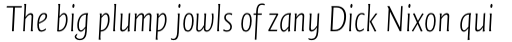 FF Quadraat Sans Pro Condensed ExtraLight Italic sample