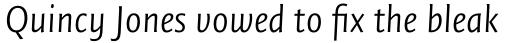 FF Quadraat Sans Pro Light Italic sample