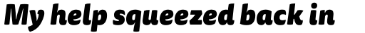 FF Tisa Sans OT Black Italic sample