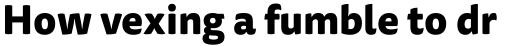 FF Tisa Sans Pro ExtraBold sample