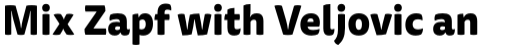 FF Tisa Sans OT ExtraBold sample