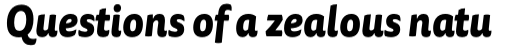 FF Tisa Sans OT ExtraBold Italic sample