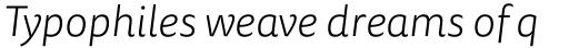 FF Tisa Sans OT Light Italic sample