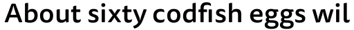 FF Tisa Sans Pro Medium sample