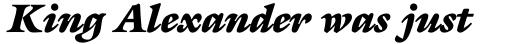 ITC Galliard Ultra Italic sample