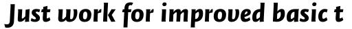 FF Quadraat Sans Pro Black Italic sample