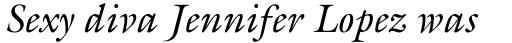ITC Galliard Italic sample