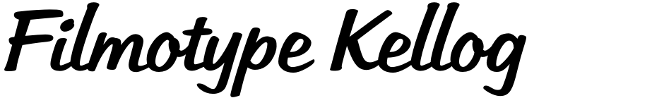 Click to view  Filmotype Kellog font, character set and sample text