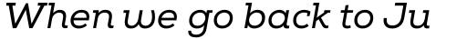 Nexa Slab Italic sample