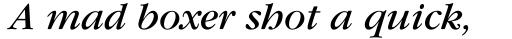ITC Garamond Book Italic sample