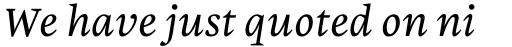 Malabar eText Italic sample