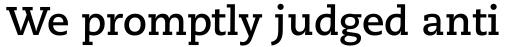 Caecilia eText Bold sample