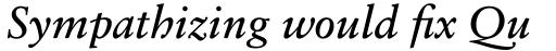 Sabon eText Italic sample