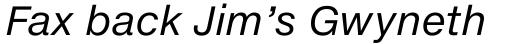 Helvetica Neue eText Pro Italic sample