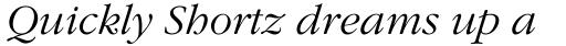 ITC Garamond Light Italic sample