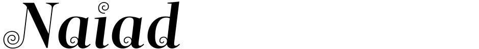 Click to view Naiad font, character set and sample text
