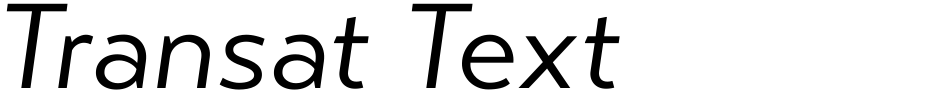 Click to view Transat Text font, character set and sample text