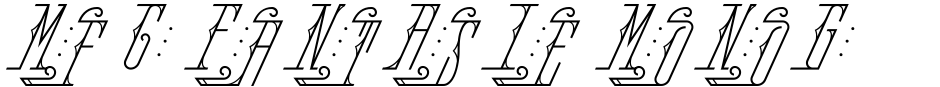 Click to view MFC Fantasie Monogram font, character set and sample text