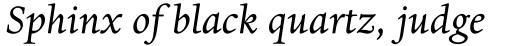 Dante EText Italic sample