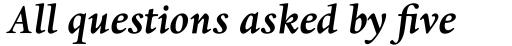 Dante EText Bold Italic sample