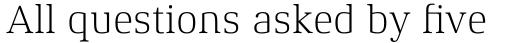 Xenois Serif Pro Light sample
