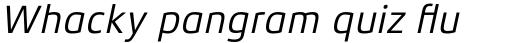 Xenois Sans Pro Italic sample